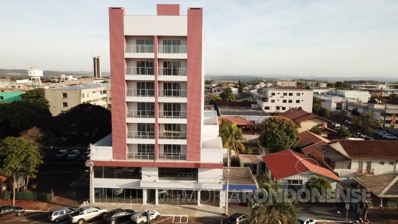 Edifício Pasetti localizado no centro da cidade de Marechal Cândido Rondon, inaugurado no começo de junho de 2020.  Imagem: Acervo O Presente - FOTO 11 -