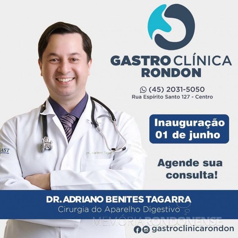Anúncio da inauguração da clínica especializada.  Imagem: Acervo do médico/Facebook - FOTO 17 -