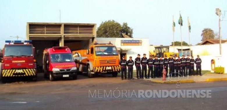 Unidade do Corpo de Bombeiros da cidade de Marechal Cândido Rondon (PR). Imagem: Acervo Defesa Civil do Paraná - FOTO 3 -