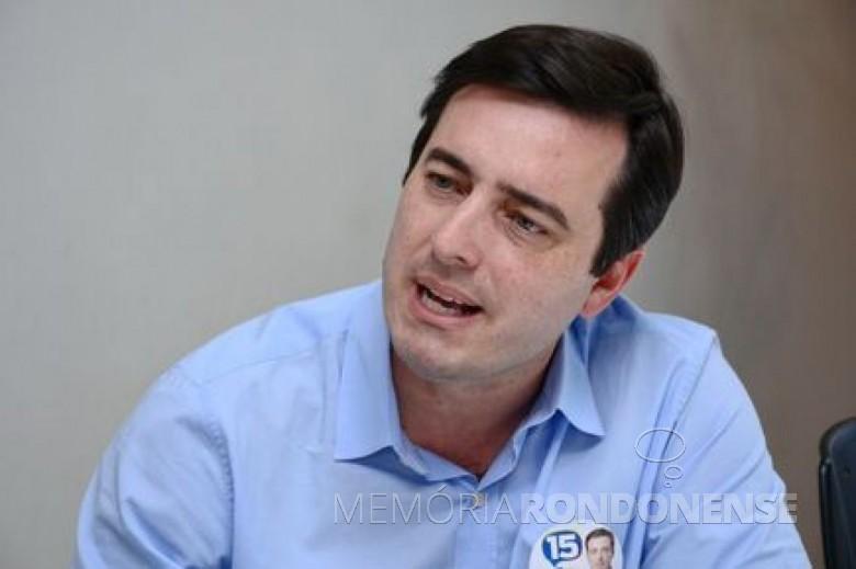 Deputado federal paranaense João Arruda que esteve em visita a Marechal Cândido Rondon, em setembro de 2014. Imagem: Acervo TN Online - FOTO 9 -