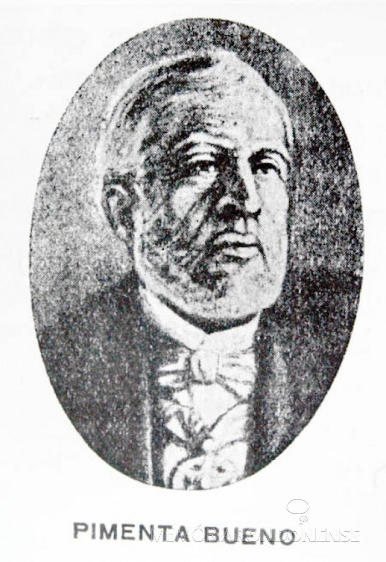 Diplomata brasileiro José Antonio Pimenta Bueno, embaixador que reconheceu a independência do Paraguai em nome do Império Brasileiro. Imagem: Acervo Wikipedia - FOTO 5 -