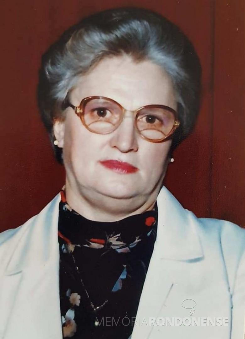 Rondonense Elvira Genz Berwanger falecida em setembro de 1998. Imagem: Acervo Lovani Genz Berwanger - FOTO 5 -