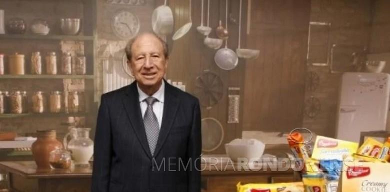 Empresário brasileiro Luigi Bauducco falecido em setembro de 2020. Imagem: Acervo Comunità Italiana - FOTO 8 -