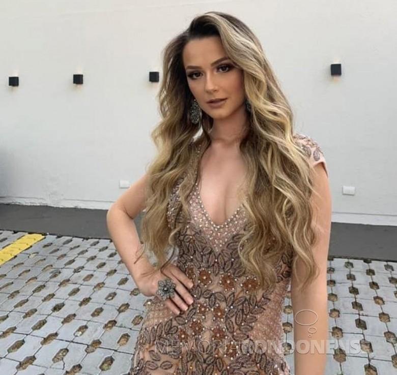 Eduarda van der Sand, eleita Miss Paraná 2020, em começo de setembro de 2020, na cidade de Maringa. Imagem: Acervo O Presente - FOTO 11 - -