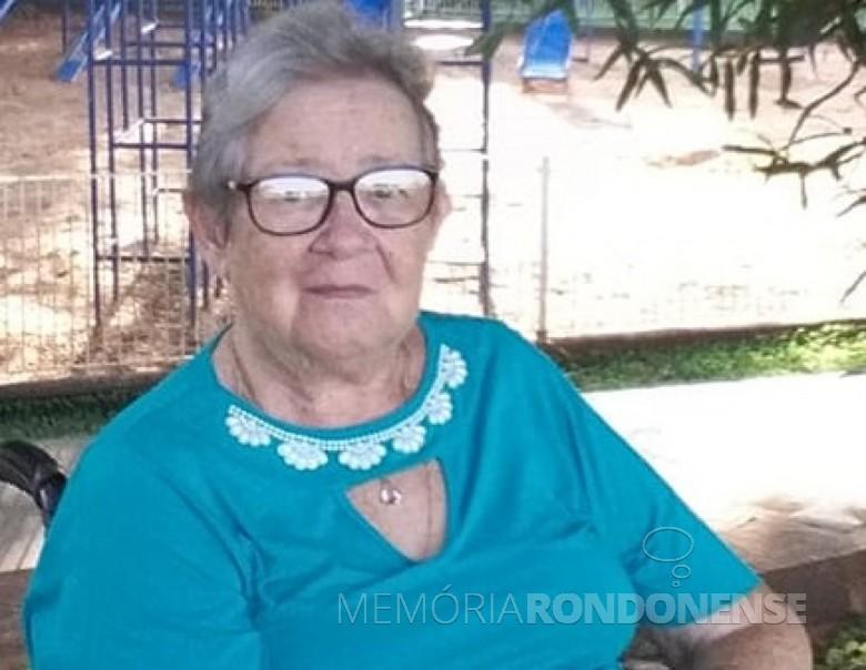 Rondonense Ivene Scherer, ex-primeira dama de Marechal Cândido Rondon, falecida em outubro de 2020. Imagem: Acervo da família - FOTO 15 -