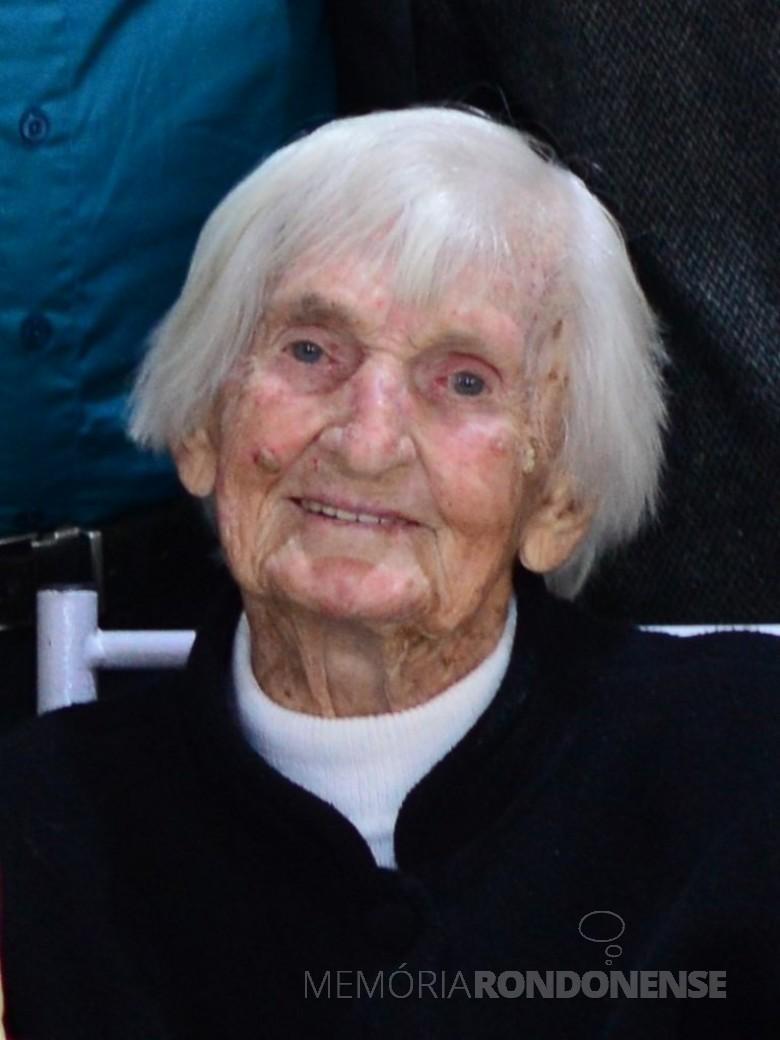 Pioneira rondonense Rosa Olga Balkau, falecida em outubro de 2020. Imagem: Acervo Anderson Loffi - FOTO 25 -