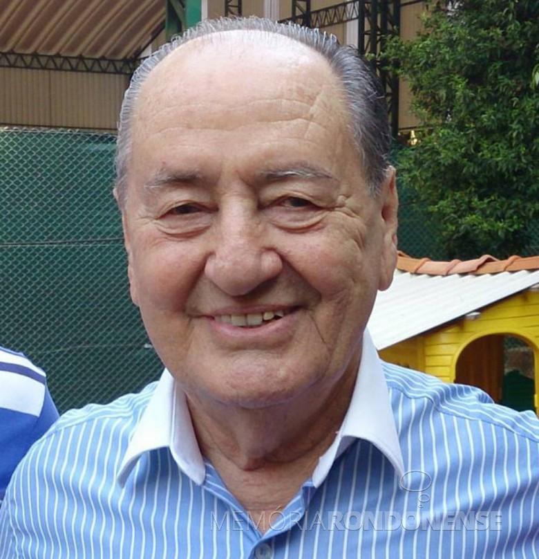 Cascavelense André Heitor Costi, ex-proprietário do jornal O Paraná, falecido em outubro de 2020. Imagem: Acervo Preto & Branco - FOTO 13 -