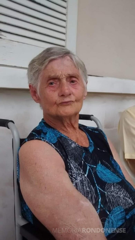 Pioneira rondonense Erondina Dreyer Lohamann, falecida em outubro de 2020. Imagem: Acervo Hedi Dreyer Campos - FOTO 8 -
