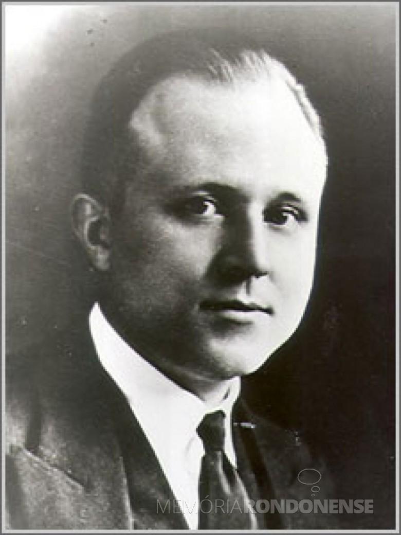 Henry Giessenbier, de origem alemã, fundador da JCI, em outubro de 1915. Imagem: Acervo JCI Brandford - FOTO 4 -