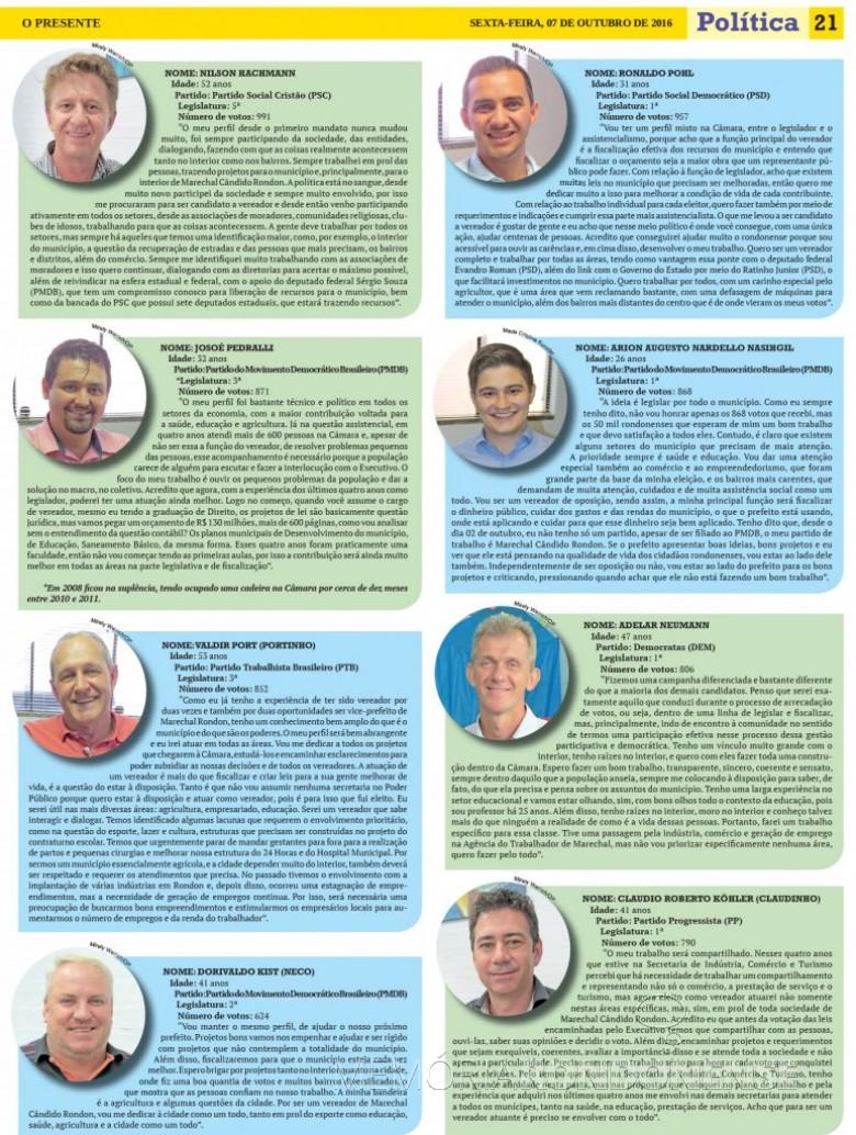 Complementação da composição de legisladores rondonense, eleitos em 02 de outubro de 2016. Imagem: Acervo O Presente - FOTO 18 -