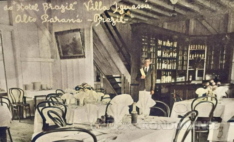 Outro detalhe do interior do Hotel Brasil. Imagem: Acervo  Família Engel - FOTO 6 -