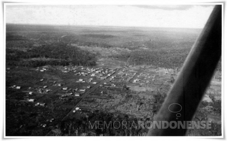 Vista aérea da cidade de Toledo nos anos 1946/1947. Imagem: Acervo Museu Histórico Willy Barth, de Toledo - FOTO 3 -
