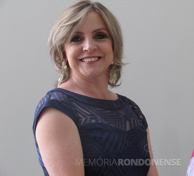 Maria Ester Phillipsen Baumann, a vereadora mais votada de Nova Santa Rosa, em novembro de 2020. Imagem: Acervo pessoal - FOTO 38 -