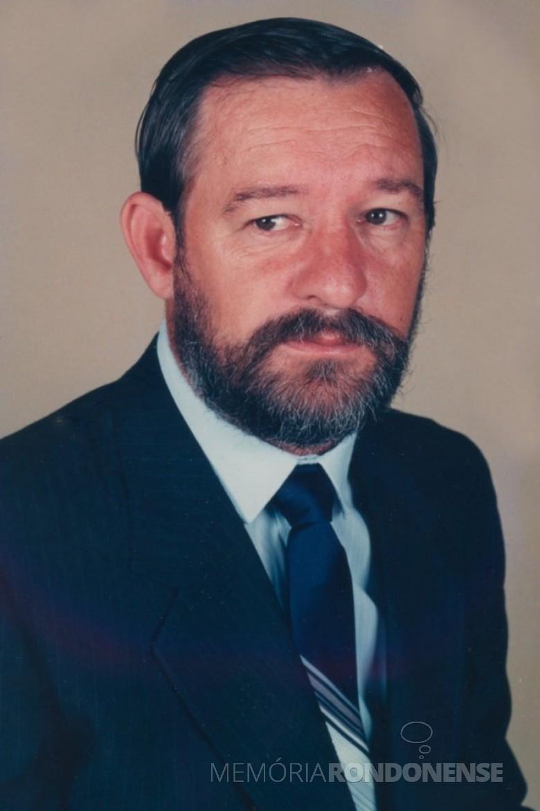 Celso Weiss (Padeiro), 2º prefeito do município de Mercedes, falecido em final de novembro de 2020. Imagem: Acervo Câmara Municipal de Marechal Cândido Rondon - FOTO 17 -