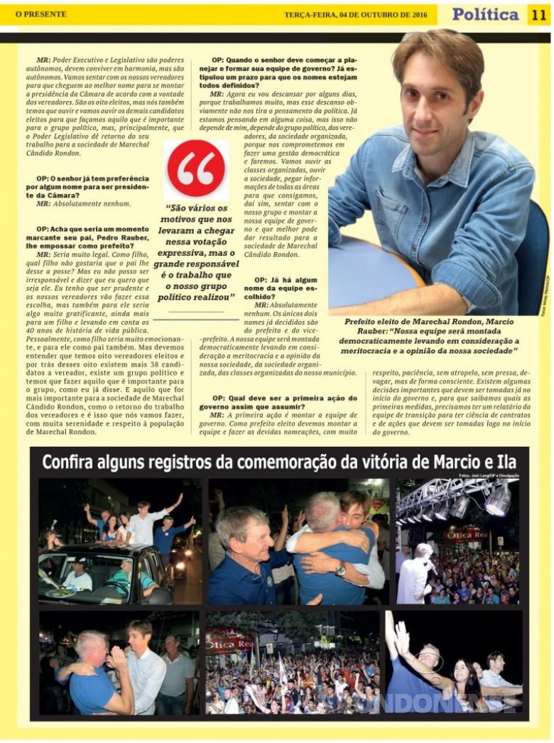 Parte final da entrevista de Marcio Andrei Rauber. Imagem: Acervo O Presenter - FOTO 16 -