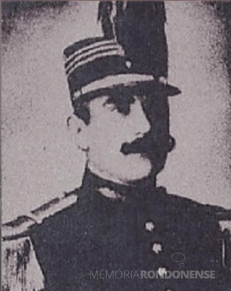 Capitão Joaquim José Moreira de Mendonça, mineiro,  nomeado para organizar e comandar a Força Policial do Paraná. Imagem: Acervo Policia Militar do  Estado do Paraná (PMPR) - FOTO 2 -