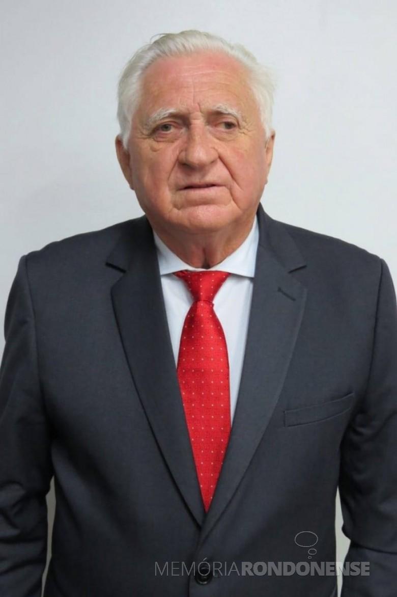 Rondonense Pedro Rauber que assumiu o 9º mandato de vereador na Câmara Municipal de Marechal Cândido Rondon, em janeiro de 2021. Imagem: Acervo Marechal News - FOTO  48 --