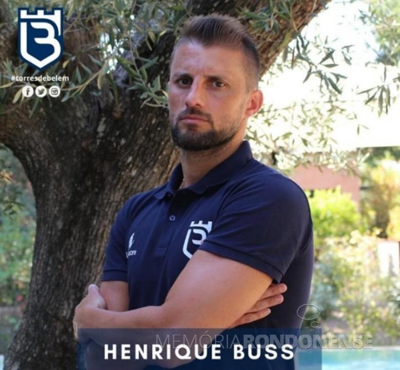 Defensor rondonense Henrique Adriano Buss contratado pelo Belenenses, em setembro de 2020. Imagem: Acervo do Clube - FOTO 8 -