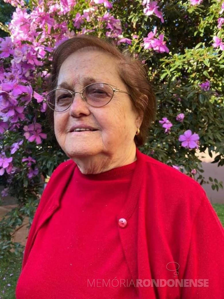 Pioneira rondonense Hilga Schroeder, falecido em fevereiro de 2021. Imagem: Acervo pessoal - FOTO 16 -