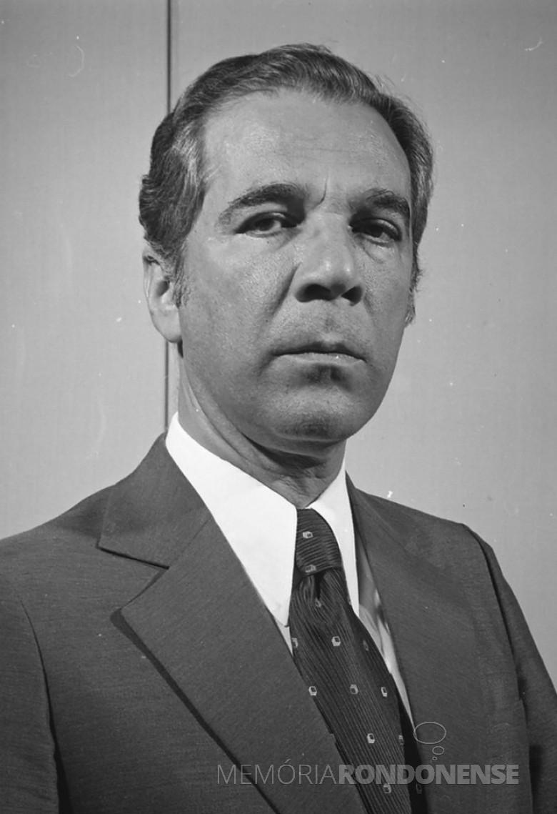 Ney Braga, natural da cidade da Lapa (PR), que tomou posse como 45º governador do Paraná, em março de 1979. Imagem: Acervo Arquivo Nacional - FOTO 8 -