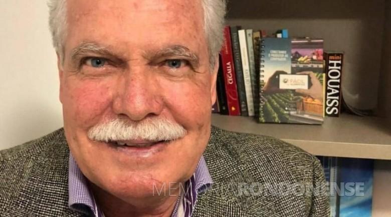 Jacó Carlos Diehl, fundador do Jornal do Oeste, na cidade de Toledo, falecido em março de 2021. Imagem: Acervo jornal Preto&Branco (Cascavel) - FOTO 21 -