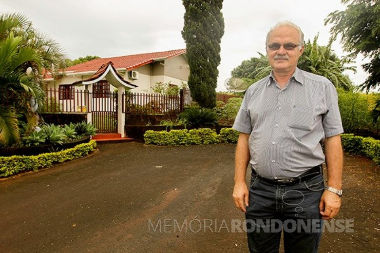 Agricultor e sindicalista rural toledano Nelson Natalino Paludo falecido em começo de julho de 2021. Imagem: Acervo Canal Rural - FOTO 10 -