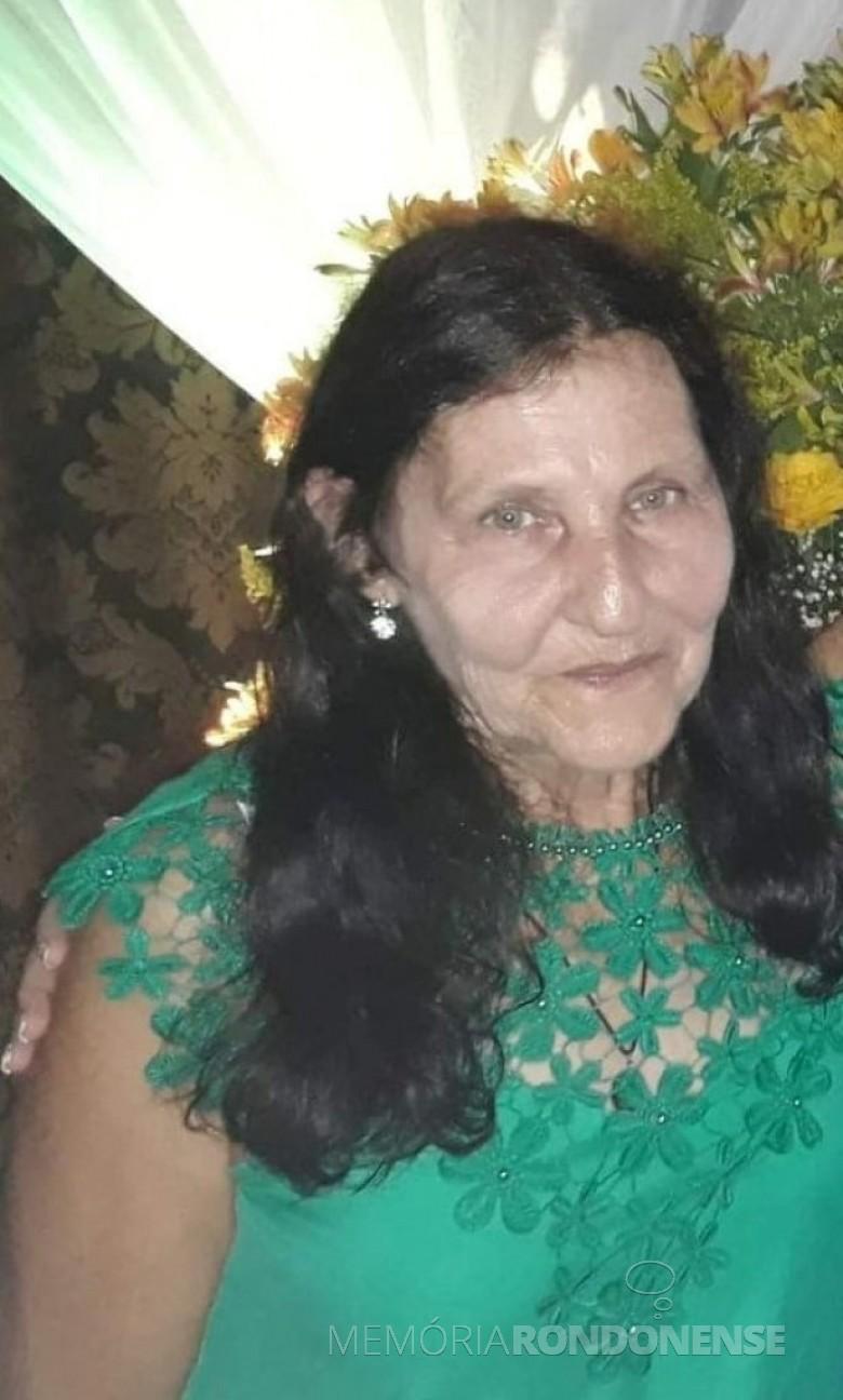 Pioneira rondonense Lurdes Besen falecida em outubro de 2019. Imagem: Acervo Capela São Paulo de Vila Curvado - FOTO 18 -