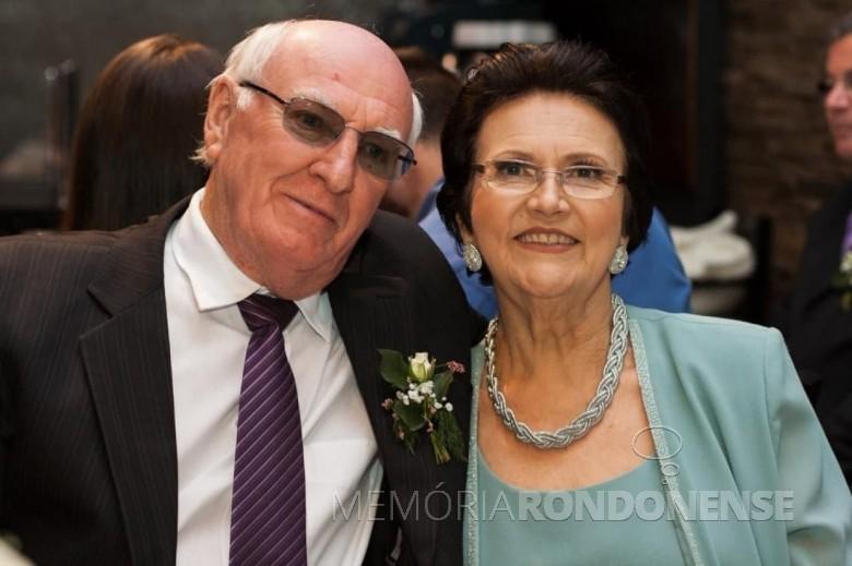 Pioneira rondonense Sirinita Maria Hentges Ritter  com o esposo Plínio Ritter, ela falecida em setembro de 2021. Imagem:  Acervo pessoal - FOTO 10 -