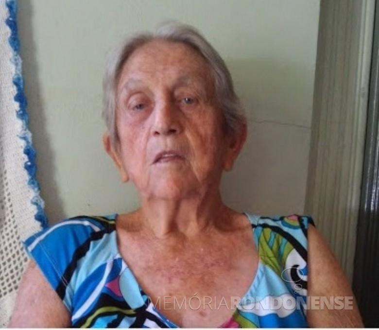 Pioneira rondonense Nair Klauck Weirich falecida em outubro de 2021. Imagem: Acervo Projeto Memória Rondonense - FOTO 18 -