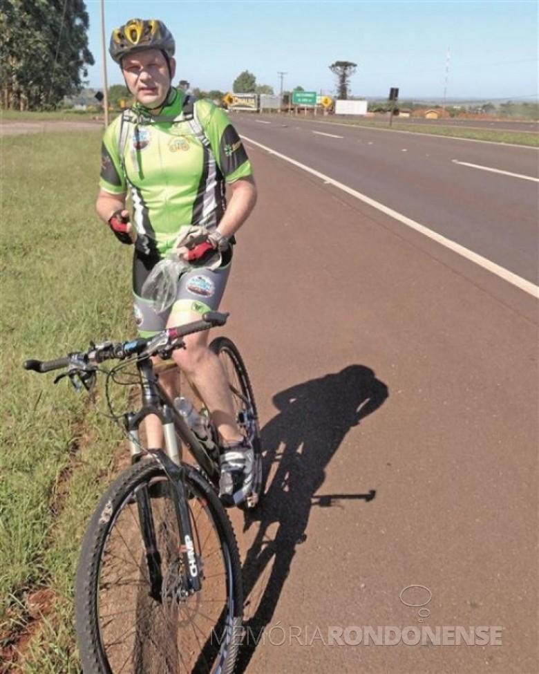 Ciclista Sérgio Mokfa primeiro rondonense a realizar num único um trajeto de 320 quilômetros num único dia. Imagem: Acervo do ciclista - FOTO 8 –