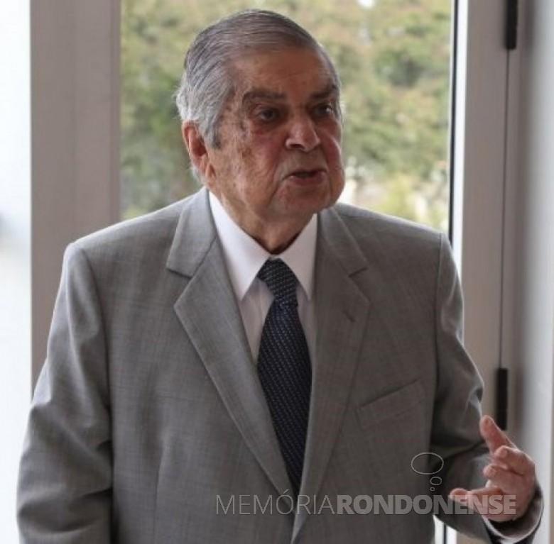 Ex-governador Jayme Canet Júnior, falecido em 31 de agosto de 2016. Imagem: Acervo Aroldo Murá - FOTO 12 -