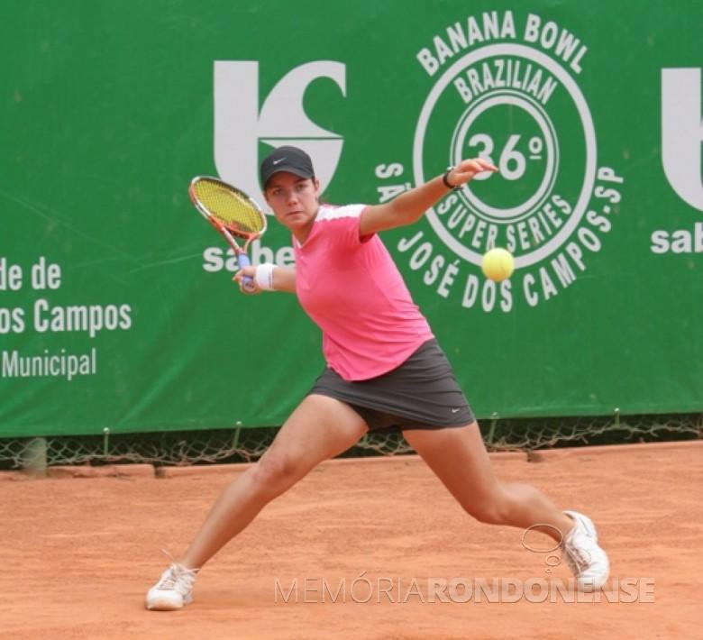 Tenista rondonense Bianca Spinassi .  Imagem: Acervo O Presente - FOTO  3 -