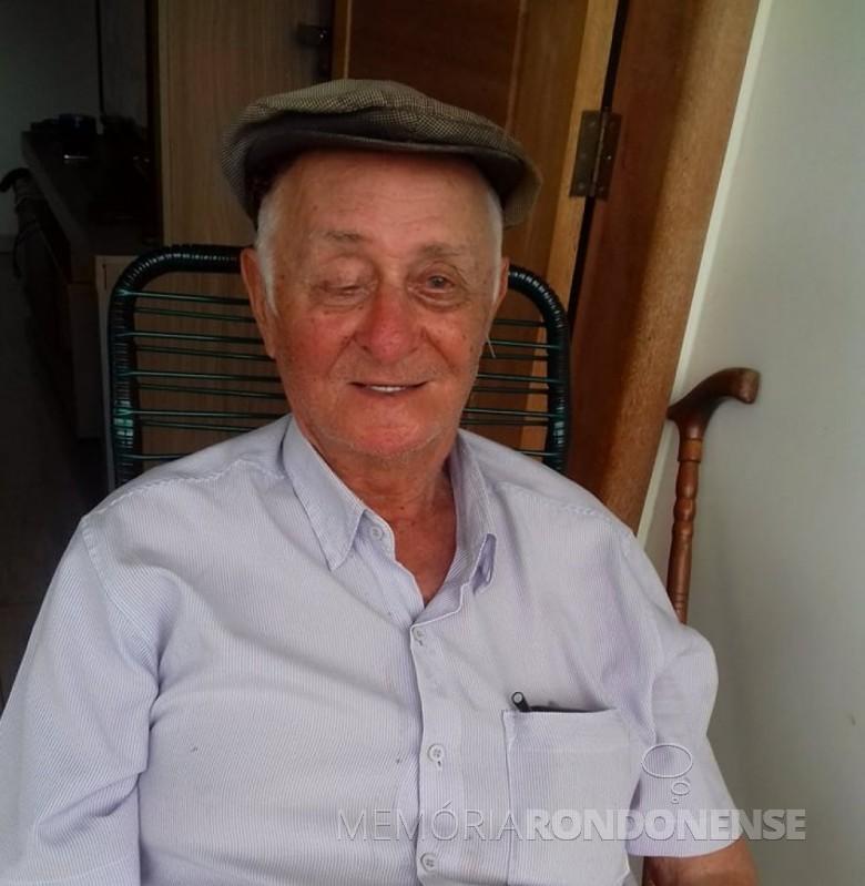 Pioneiro rondonense Alberto Bottke falecido em janeiro de 2018.  Imagem: Acervo de Laurici Bottke Valle - FOTO 9 -