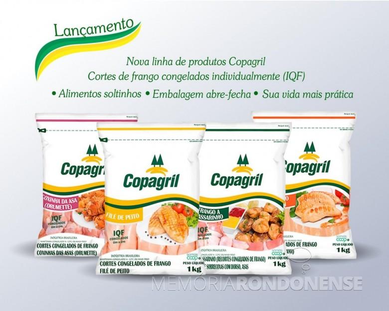 Linha de produtos ofertados pela Copagril com a tecnologia IQF.  Imagem: Acervo Comunicação Copagril - FOTO 10 -