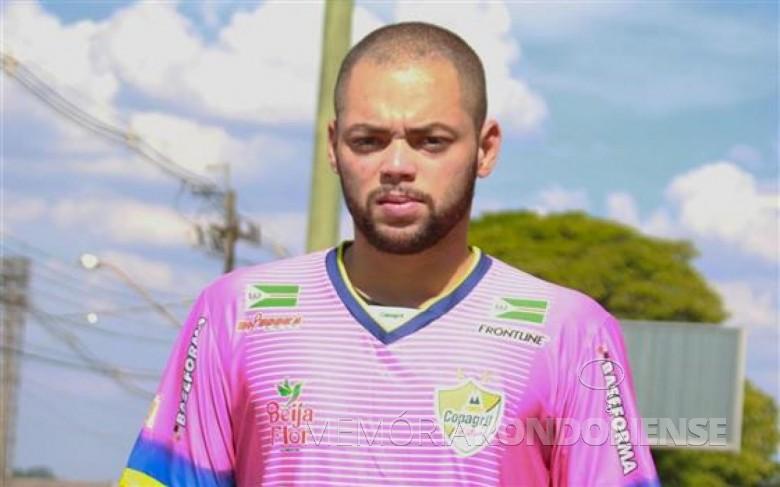 Goleiro Daniel de Souza Cardoso contratado pela Copagril Futsal para a temporada 2017.  Imagem: Acervo Imprensa Copagril Futsal - FOTO 3 -