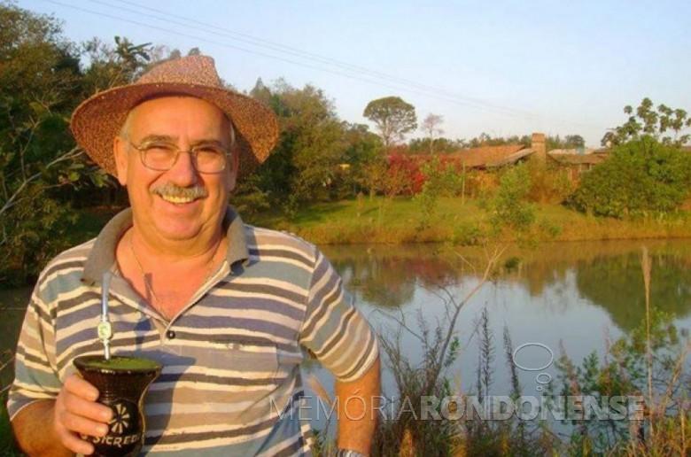 PlÍnio Ari Schütz, ex-vereador de Marechal Cândido Rondon, pelo então distrito de Quatro Pontes, falecido em 21 de fevereiro de 2016. Imagem: Facebook - 21.02. 16 - FOTO 910-