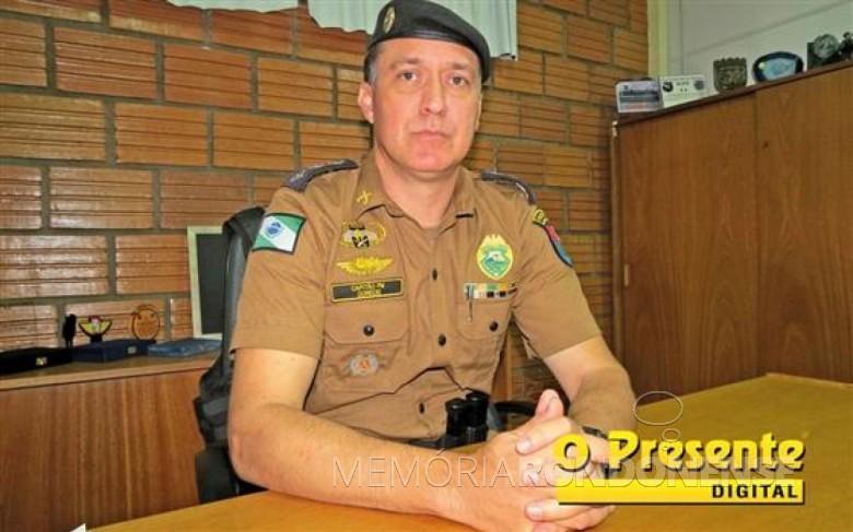 Major André Cristiano Dorecki que assumiu como subcomandante da Batalhão de Polícia de Fronteira (BPFron), em 09 de abril de 2017.  Imagem: Acervo O Presente Digital - FOTO 5 -
