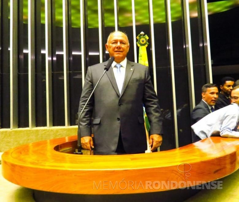 Deputado federal José Carlos Schiavinatto que assumiu a presidência da Frente Parlamentar Mista da Suinocultura, em meados de maio de 2019.  Imagem: Acervo O Presente - FOTO 13 -