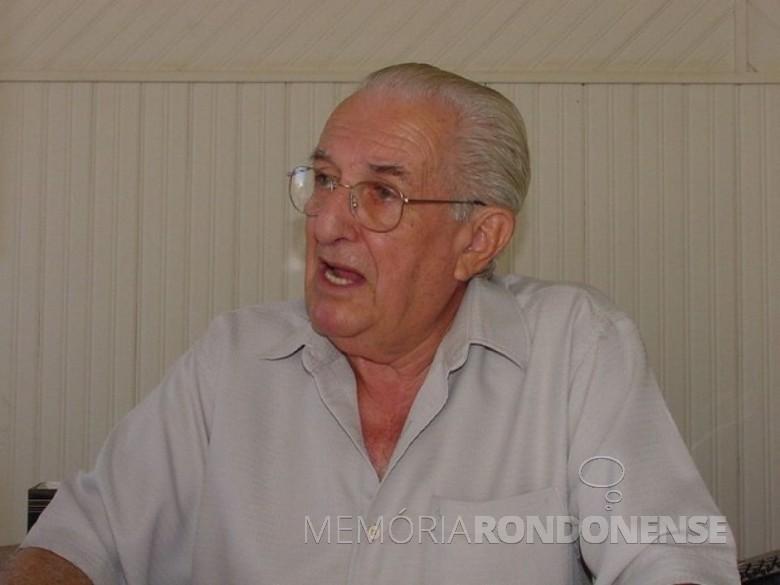 2º prefeito de Toledo, Egon Pudell, tempo que Marechal Cândido Rondon, era distrito daquele município.  Imagem: Acervo Memória Rondonense - FOTO 5 -