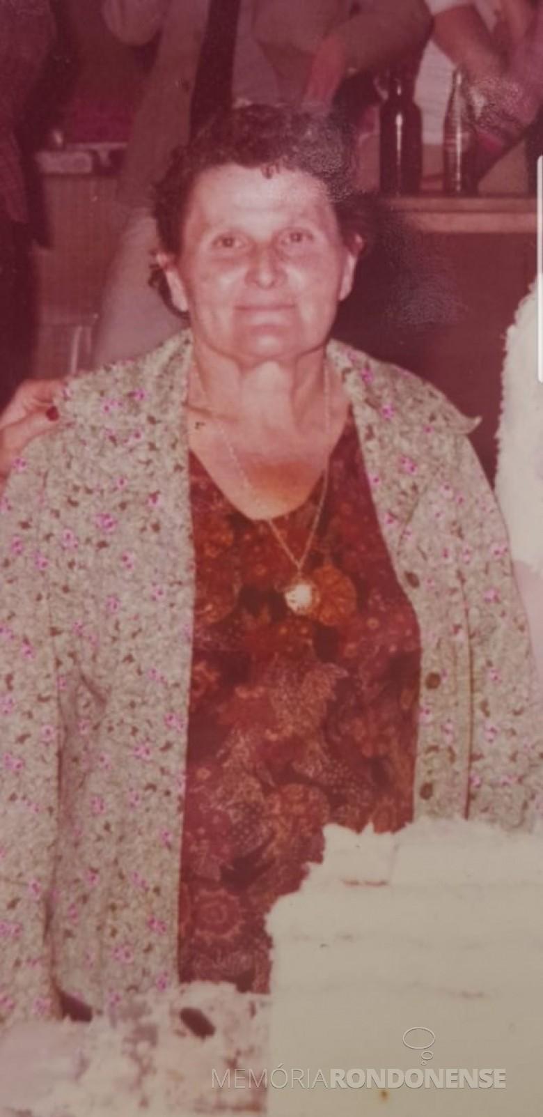 Pioneira rondonense Olívia (nascida Brandeleiro) Bianchessi, falecida em fevereiro de 2013.  Imagem: Acervo Ari Bianchessi - FOTO 4 -
