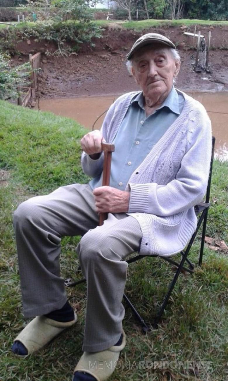 Rondonense José Francisco Dobner, falecido em dezembro de 2015. Imagem: Acervo de Lúcia Dobner Haag