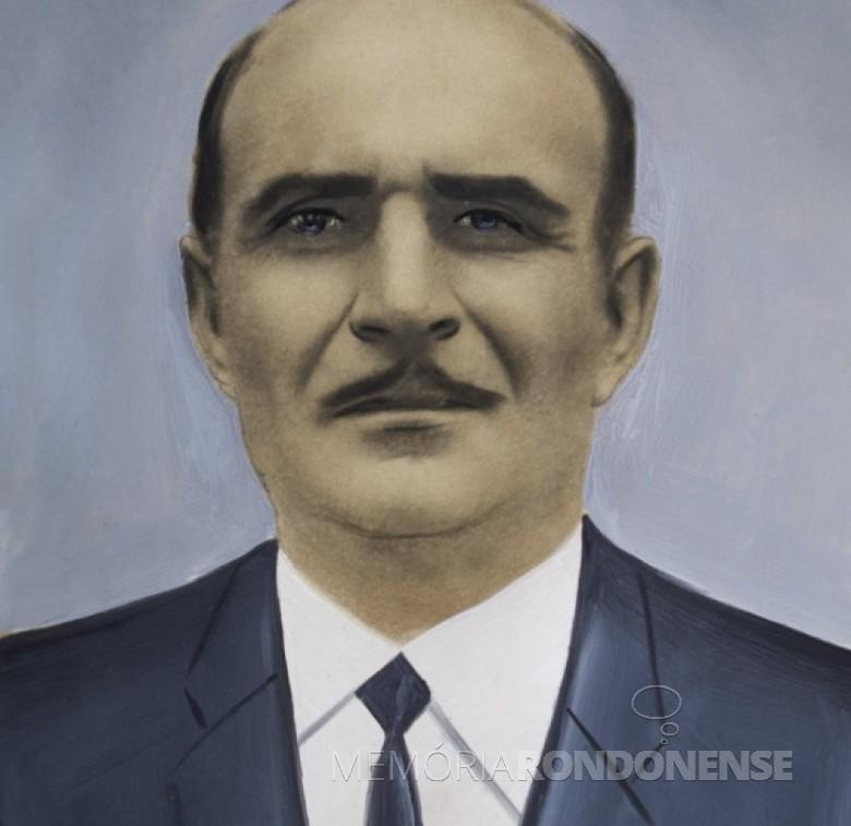 Aldo Allievi, vereador da primeira legislatura de Marechal Cândido Rondon, pelo distrito de Porto Mendes, falecido em 2006.  Imagem: Acerco Câmara Municipal - MCR - FOTO 13 –