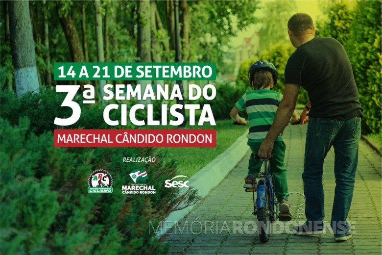Cartaz da 3ª Semana do Ciclista de Marechal Cândido Rondon. Imagem: Acervo Memória Rondonense - FOTO 16 -