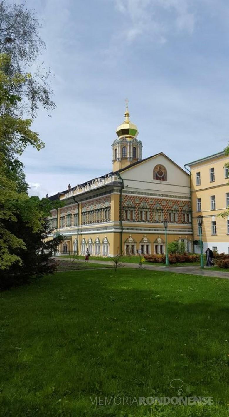 Vista externa da Academia Teológica de Moscou.  Imagem: Acervo Neimar Troes - FOTO 12 -