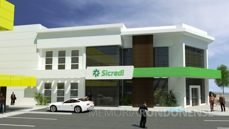 Novo prédio da agência Copagril da Sicredi Aliança PR/SP, inaugurado em 23 de fevereiro de 2017. Imagem: Acervo Sicredi Aliança - FOTO 6 -