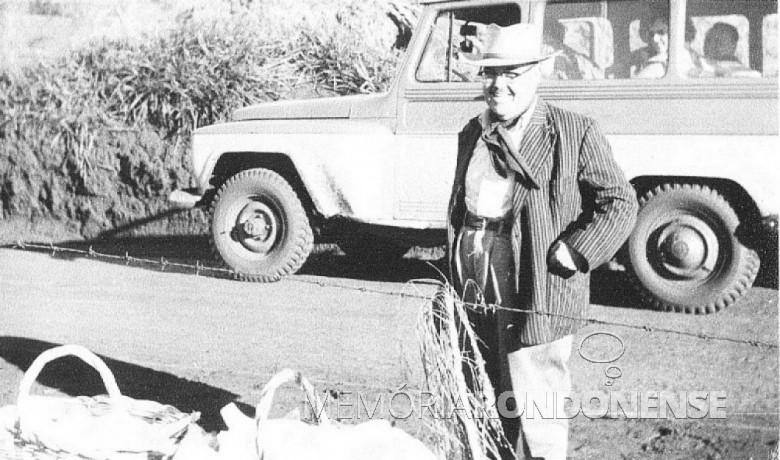 Ari Branco da Rosa nomeado como 2º delegado da cidade de Toledo, em 1954. Imagem: Acervo Família Seyboth - FOTO 1 -