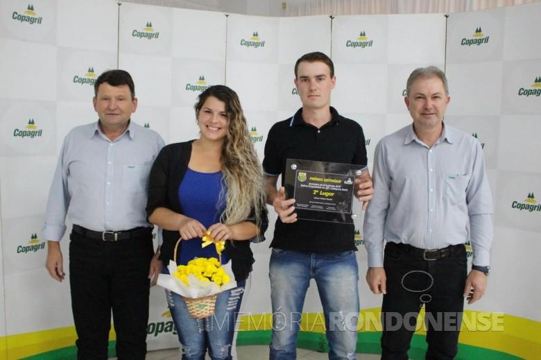 Produtor Valmor Ademir Escher  e esposa. de  Marechal Cândido Rondon, 2º lugar na categoria