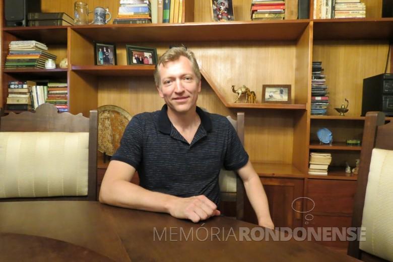 Piloto rondonense Christian Netzel entrevistado do jornal O Presente, de janeiro de 2018.  Imagem: Acervo O Presente - Crédito: Joni Lang - FOTO 4 -