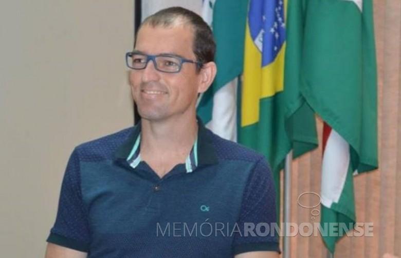 Cristiano Metzner nomeado como secretário municipal de Esportes e Lazer, em janeiro de 2017.  Imagem: Acervo Marechal News - FOTO 6 -