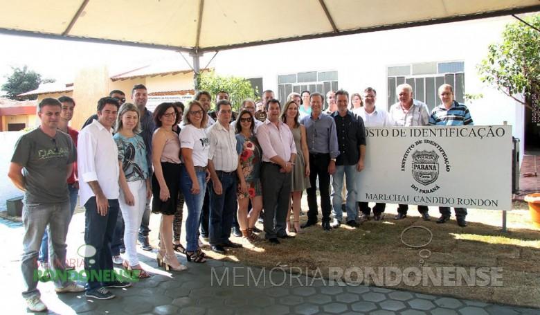 Solenidade de inauguração da reforma e ampliação do Posto do Instituto de Identificação do Paraná, em Marechal Cândido Rondon.  Imagem: Acervo Imprensa -PM-MCR